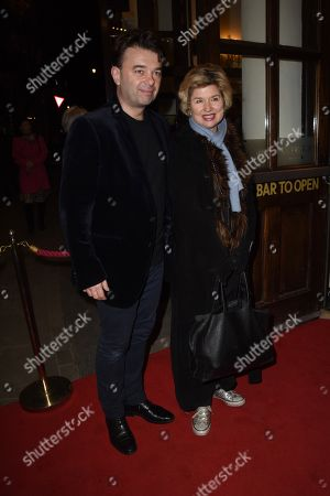 Issy Van Randwyck with her husband Edward Hall