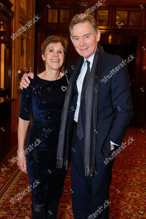 Anthony Andrews with his wife Georgina Simpson