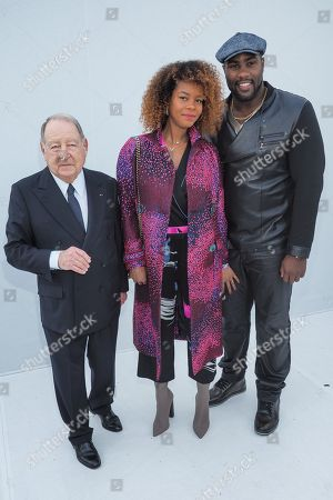 Editorial photo of Leonard Paris show, Front Row, Fall Winter 2018, Paris Fashion Week, France - 05 Mar 2018