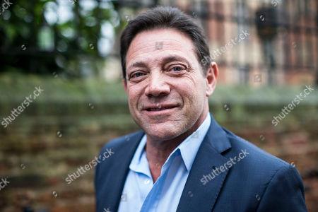 Jordan Belfort, American author, motivational speaker and former stockbroker arrives to speak to students at the Oxford Union