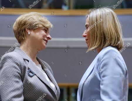 Federica Mogherini and Roberta Pinotti