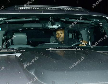 Jamie Foxx leaving Michael Chow