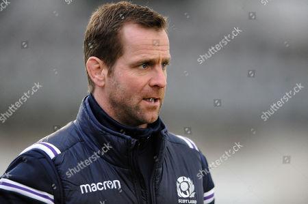 Chris Paterson - Scotland skills coach. Scotland rugby union training session, Six Nations Championship, (pre Ireland - away) The Oriam, Edinburgh, Scotland, Tuesday 6 March 2018. ***Please credit: ©Fotosport/David Gibson***