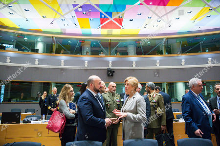 Etienne Schneider - Defence Minister of Luxembourg and Roberta Pinotti - Italian Defence Minister