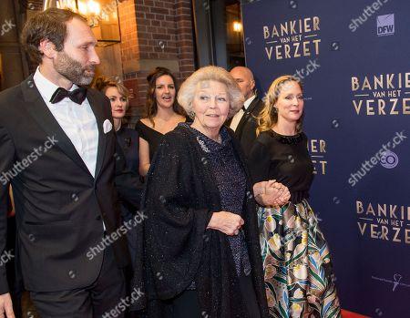Princess Beatrix and Princess Margarita with her partner Tjalling ten Cate