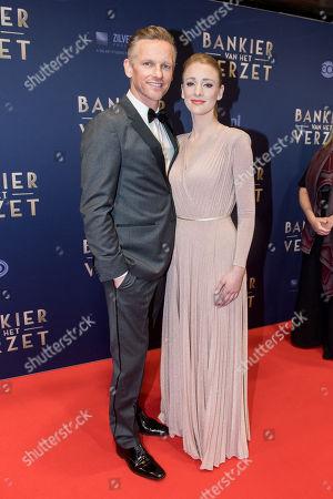 Barry Atsma and his partner Noortje Herlaar