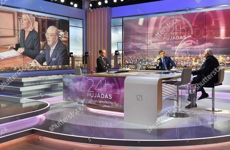 Jean-Marie Le Pen, David Pujadas and Fabien Namias
