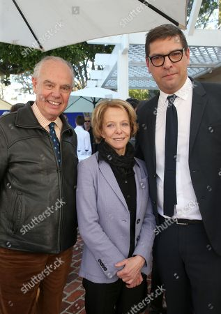 Frederic Mitterrand, Frédérique Bredin, Christophe Lemoine Consul General of France