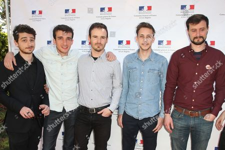 Stock Picture of Victor Caire, Gabriel Grapperon and Nominee team for Garden Party