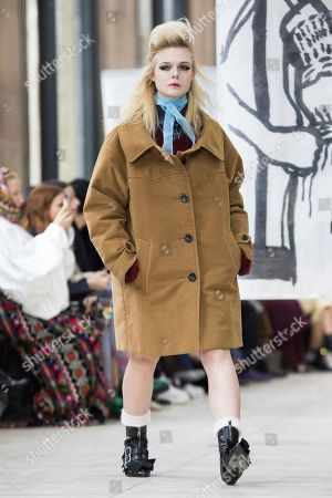 6c16d2c56d93 Stock Picture of Actress Elle Fanning wears a creation for the Miu Miu  ready-to