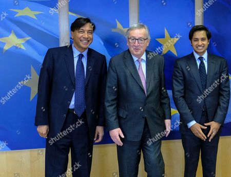 Editorial image of ArcelorMittal chairman Lakshmi N. Mittal (L) at EU commission, Brussels, Belgium - 06 Mar 2018