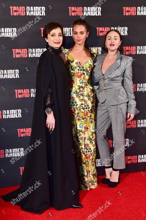 Dame Kristin Scott Thomas, Alicia Vikander and Jaime Winstone