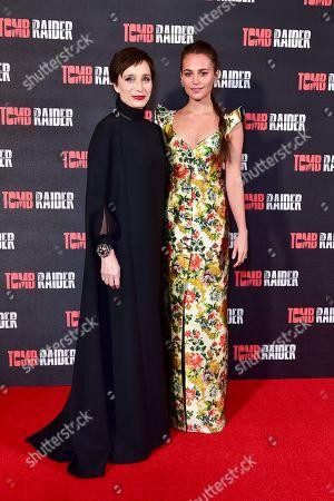 Dame Kristin Scott Thomas and Alicia Vikander