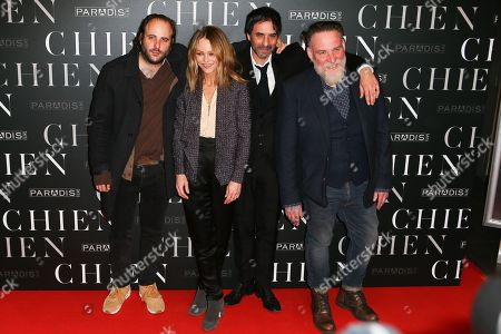 Stock Photo of Vincent Macaigne, Vanessa Paradis, Samuel Benchetrit and Bouli Lanners