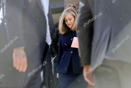 Nashville Mayor Megan Barry leaves the Davidson County Sheriff's Office after being booked, in Nashville, Tenn. Barry resigned from office after pleading guilty to stealing thousands of dollars from the city while carrying on an extramarital affair with her bodyguard