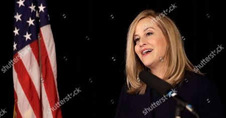 Nashville Mayor Megan Barry announces her resignation, in Nashville, Tenn. Barry resigned after pleading guilty to stealing thousands of dollars from the city while carrying on an extramarital affair with her bodyguard