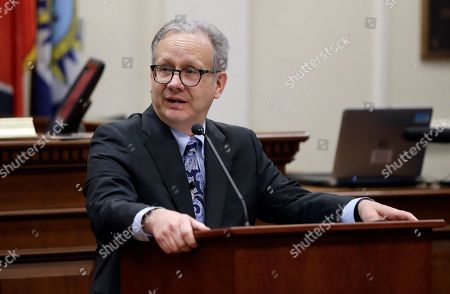 Nashville Mayor David Briley addresses the city council after he was sworn in to replace Mayor Megan Barry, in Nashville, Tenn. Briley was sworn in hours after Barry pleaded guilty to stealing thousands of dollars from the city while carrying on an extramarital affair with her bodyguard