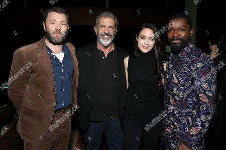 Joel Edgerton, Mel Gibson, Rosalind Ross and David Oyelowo