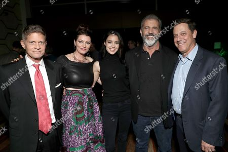 Chairman and CEO of STX Entertainment Robert Simonds, Jessica Oyelowo, Rosalind Ross, Mel Gibson and Chairman of STXfilms Adam Fogelson