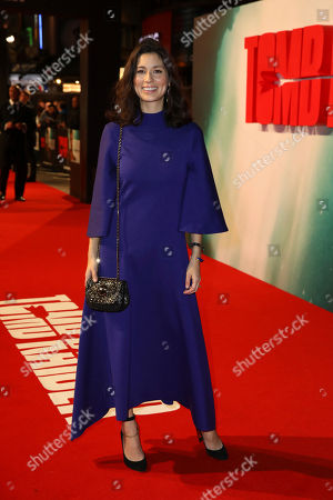 Author Jasmine Hemsley poses for photographers on arrival at the premiere of the film 'Tomb Raider', in London
