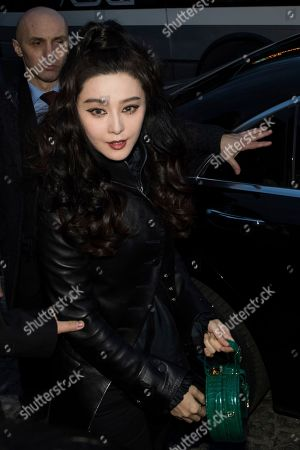 Fan Bing Bing arrives at the Louis Vuitton ready-to-wear fall/winter 2018/2019 fashion collection presented in Paris