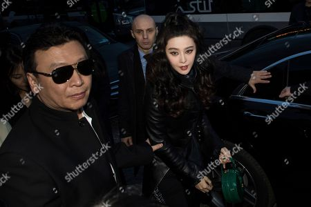 Stock Picture of Fan Bing Bing arrives at the Louis Vuitton ready-to-wear fall/winter 2018/2019 fashion collection presented in Paris