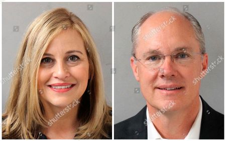 This combination of photos provided by the Metropolitan Nashville Police Department shows Nashville Mayor Megan Barry, left, and her former bodyguard, retired police Sgt. Robert Forrest. Barry resigned, after pleading guilty to cheating the city out of thousands of dollars as she carried on an affair with Forrest
