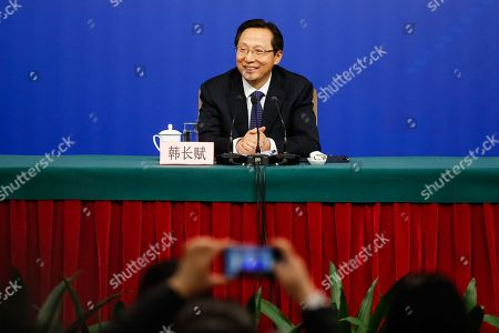 Editorial image of Chinese NPC press conference, Beijing, China - 07 Mar 2018