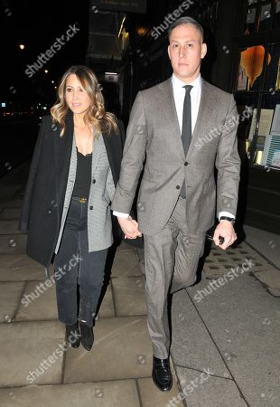 Stock Picture of Rachel Stevens and Alex Bourne