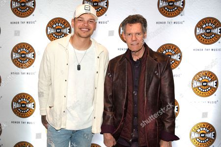 """Kane Brown, Randy Travis. Artists Kane Brown, left, and Randy Travis pose on the red carpet of the """"American Currents: The Music of 2017"""" exhibit opening at the Country Music Hall of Fame and Museum, in Nashville, Tenn"""