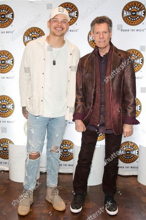 """Kane Brown, Randy Travis. From left, artists Kane Brown and Randy Travis on the red carpet of the """"American Currents: The Music of 2017"""" exhibit opening at the Country Music Hall of Fame and Museum on in Nashville, Tenn"""