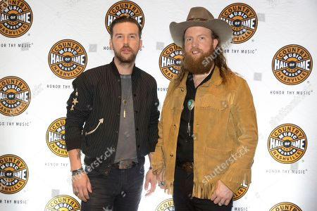 """TJ Osborn, John Osborne. From left, artists TJ and John Osborne on the red carpet of the """"American Currents: The Music of 2017"""" exhibit opening at the Country Music Hall of Fame and Museum on in Nashville, Tenn"""