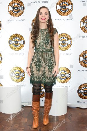"""Artist Sierra Hull on the red carpet of the """"American Currents: The Music of 2017"""" exhibit opening at the Country Music Hall of Fame and Museum on in Nashville, Tenn"""