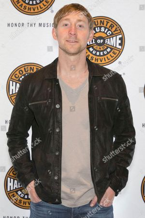 """Artist Ashley Gorley on the red carpet of the """"American Currents: The Music of 2017"""" exhibit opening at the Country Music Hall of Fame and Museum on in Nashville, Tenn"""
