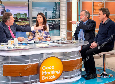 Piers Morgan and Susanna Reid with Misha Glenny and Alexander Nekrassov