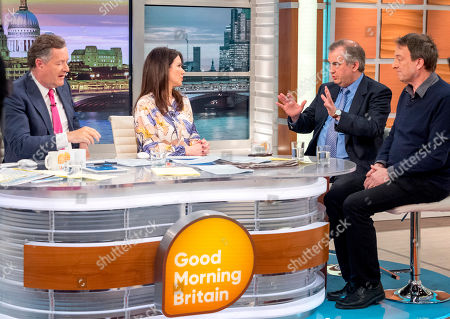Piers Morgan and Susanna Reid with Misha Glenny and Alexander Nekrassov