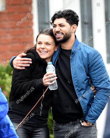 Faye Brookes and Qasim Akhtar