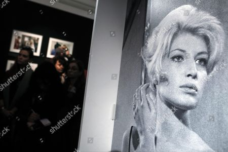 Stock Photo of A view inside the photo exhibition 'La dolce Vitti' on Italian actress Monica Vitti at Teatro dei Dioscuri at Quirinal Palace in Rome, Italy, 07 March 2018. The exhibition runs from 08 March to 10 June. Monica Vitti is best known for her roles in films in the early 1960s.