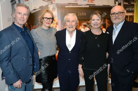 Stock Photo of Gered Mankowitz, Edith Bowman, Terry O'Neill, Zelda Cheatle and Chris Duffy