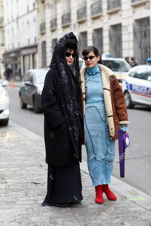 Stock Photo of Diane Pernet and Giorgia Cantarini