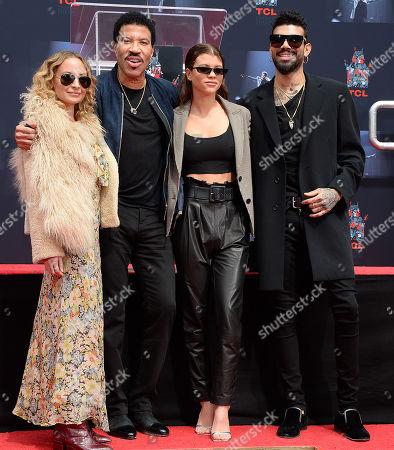 Nicole Richie, Lionel Richie, Sofia Richie and Miles Brockman Richie