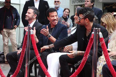 Jimmy Kimmel, Lionel Richie, Lisa Parigi and Miles Richie