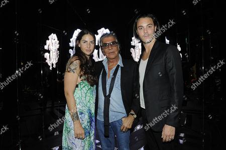 Stock Image of Benedetta Mazzini, Roberto Cavalli and Jack Huston