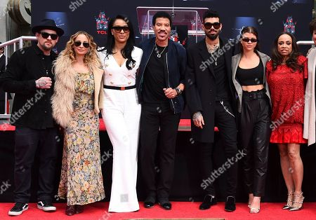 Joel Madden, Nicole Richie, Lisa Parigi, Lionel Richie, Miles Richie, Sofia Richie, Brenda Harvey. From left, Joel Madden, Nicole Richie, Lisa Parigi, Lionel Richie, Miles Richie, Sofia Richie and Brenda Harvey attend the Lionel Richie Hand and Footprints Ceremony at TCL Chinese Theatre forecourt on in Los Angeles