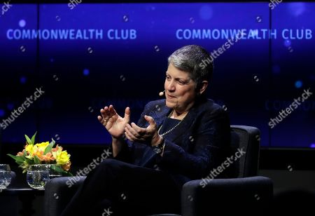 University of California President Janet Napolitano speaks during a meeting of The Commonwealth Club, in San Francisco