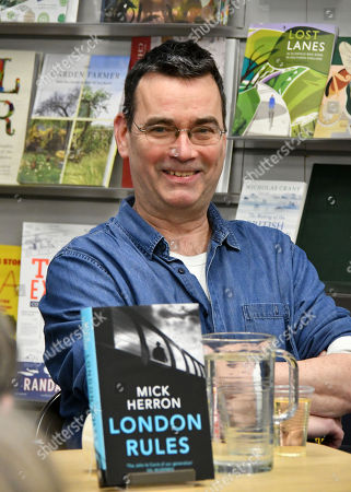 Editorial image of Mick Herron 'London Rules' book event, London, UK - 07 Mar 2018