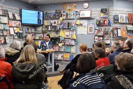 Editorial photo of Mick Herron 'London Rules' book event, London, UK - 07 Mar 2018