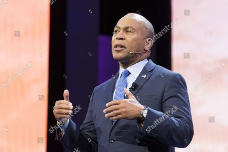 Deval Patrick, Former Governor of Massachusetts, speaking at the AIPAC (American Israel Public Affairs Committee) Policy Conference at the Walter E. Washington Convention Center