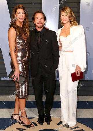 Jill McCormick, Eddie Vedder and Laura Dern