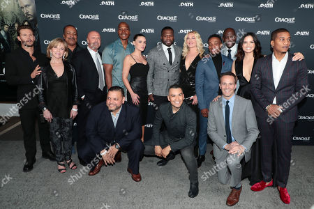Stock Picture of Ryan Kwanten, Linda Purl, Robert Gossett, Joe Halpin, Creator/Writer/Executive Producer, Isaac Keys, J. Anthony Pena, Eve Mauro, 50 Cent, Executive Producer, Joseph Julian Soria, Elisabeth Rohm, Arlen Escarpeta, Kwame Patterson, Eric Berger, General Manager, Crackle, and Chief Digital Officer, Sony Pictures Television Networks, Katrina Law, Cory Hardrict